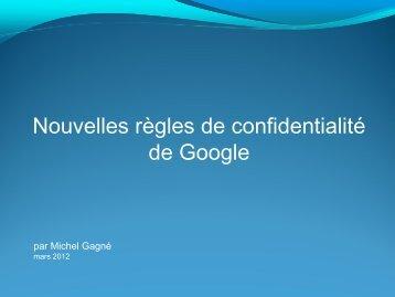 Les nouvelles règles de confidentialité de Google