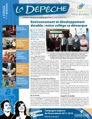 Environnement et développement durable : notre collège se ...