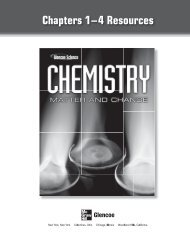 Chemistry: Matter and Change Ch. 1-4 Resources - Austin High ...
