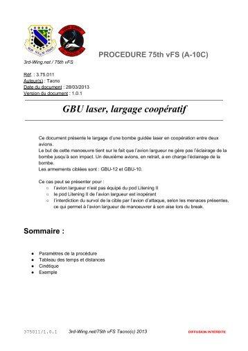 GBU laser, largage coopératif