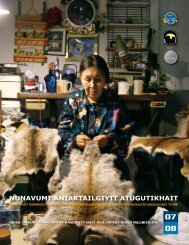 Annual Report on the State of Inuit Culture and Society 2007-2008