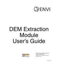 ENVI DEM Extraction Module User's Guide - Exelis VIS