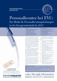 Personalberater bei EVU: - trend:research