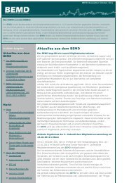 Aktuelles aus dem BEMD - BEMD eV Bundesverband der ...