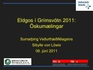 Erindi Sibylle von Löwis um öskumælingar í Grímsvatnargosinu 2011