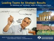 Leading Teams for Strategic Results - Thunderbird School of Global ...