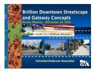 Review Final Downtown Streetscape Design Concepts