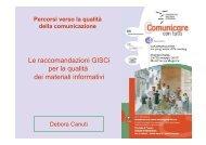 Le raccomandazioni GISCi per la qualità dei materiali informativi
