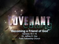"""Becoming a Friend of God"" - Faith Fellowship Church"