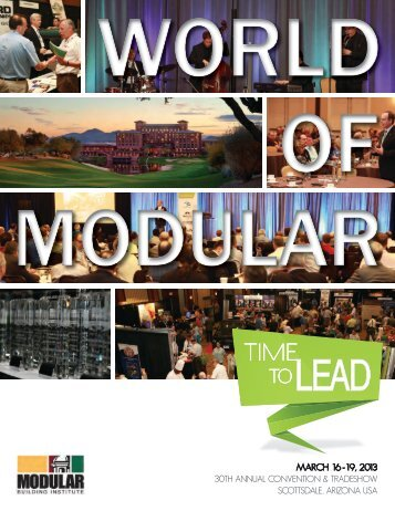 to lead - Modular Building Institute