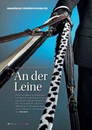 Externe Vermögensverwalter - An der Leine; Schweizer Bank, März
