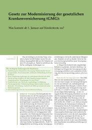Gesetz zur Modernisierung der gesetzlichen ... - Pädiatrix