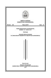 Peraturan Bupati Nomor 39 Tahun 2011 tentang ... - Gunungkidul