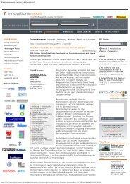 Innovations Report online - Immunobone