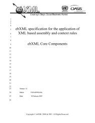 ebXML specification for the application of XML based assembly and ...