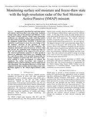 Monitoring surface soil moisture and freeze-thaw ... - SMAP - NASA