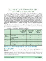 Institute of Wood Science and Technology, Bangalore - ICFRE