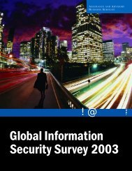 Global Information Security Survey 2003