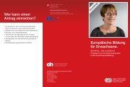 Europäische Bildung für Erwachsene. Wer kann ... - chstiftung.ch Go