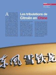 Citröen en Chine - Magazine Sports et Loisirs