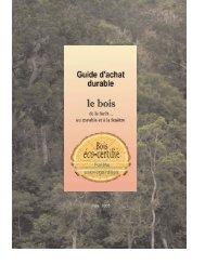'Guide d'achat du bois - Administration éco-responsable