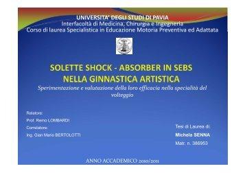 Solette shock-absorber in SEBS nella ginnastica artistica