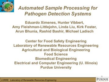 Dr. Michael Ladisch - Center for Food Safety Engineering - Purdue ...