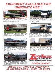 See our flyer - Zip's Truck Equipment
