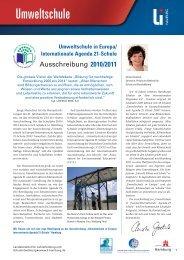 Umweltschule in Europa - Deutsche Gesellschaft für Umwelterziehung