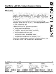 INSTALLA TION - Codan, Ltd.