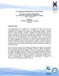 III CONGRESO INTERNACIONAL DE FILOSOFÍA PENSAR EL ...