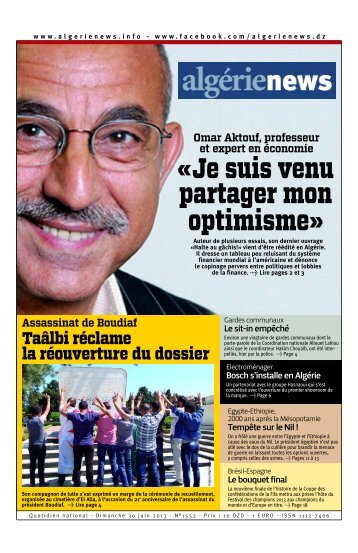 Fr-30-06-2013 - Algérie news quotidien national d'information