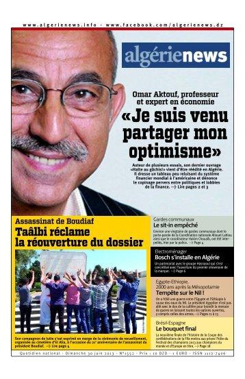 Fr-30-06-2013 - Algérie news quotidien national d'information