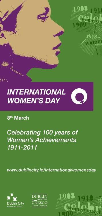 DCC Event Programme, International Women's Day 2011 - Dublin.ie