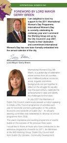 DCC Event Programme, International Women's Day 2011 - Dublin.ie - Page 2