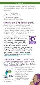 DCC Event Programme, International Women's Day 2011 - Dublin.ie - Page 3