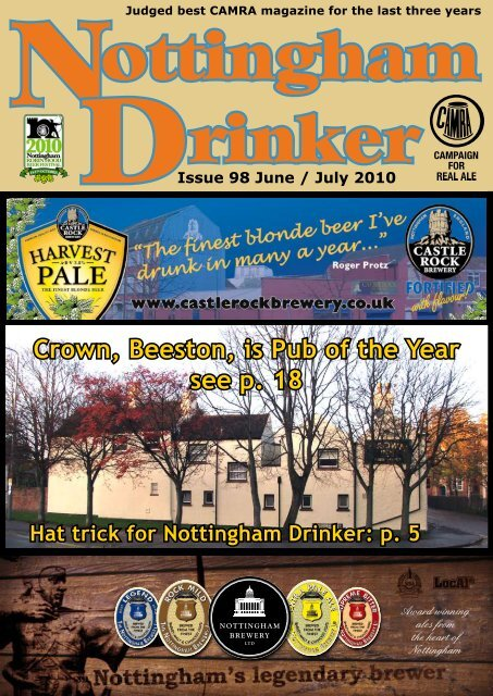 Crown Beeston Is Pub Of The Year See P 18 Nottingham Camra