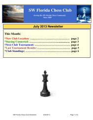 July 2013 Newsletter - SW Florida Chess Club