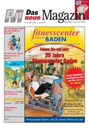seit 20 Jahren Fitness für Sie - DnM Das neue Magazin