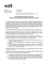 Posebna ljetna ponuda za postojeće pretplatnike - Tele2