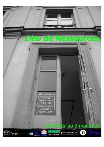 invitation Lieu de Ressources web - Maison des arts - Ville de Malakoff