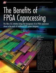 The Benefits of FPGA Coprocessing - M. Javad Omidi