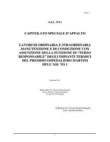 CAPITOLATO SPECIALE D'APPALTO LAVORI DI ... - ASL TO 1