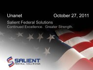 President and CEO at Salient Federal Solutions, Inc. and Chairman ...
