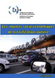 4 Chaînes d'impacts socio-économiques de la tarification ... - CEDR