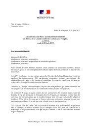 Discours de Jean-Marc Ayrault, Premier ministre, en clôture de la ...