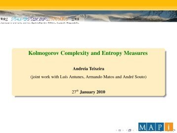 Kolmogorov Complexity and Entropy Measures