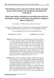 Determination of the strain-rate sensitivity and the activation ... - RMZ
