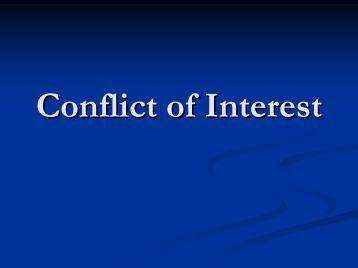 conflict of interest jae pdf