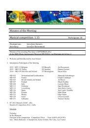 Minutes Music Seminar - Lions Clubs International - MD 112 Belgium